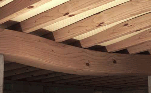 sagging floorboards in a house