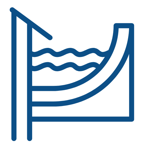 Water collecting in a pool icon