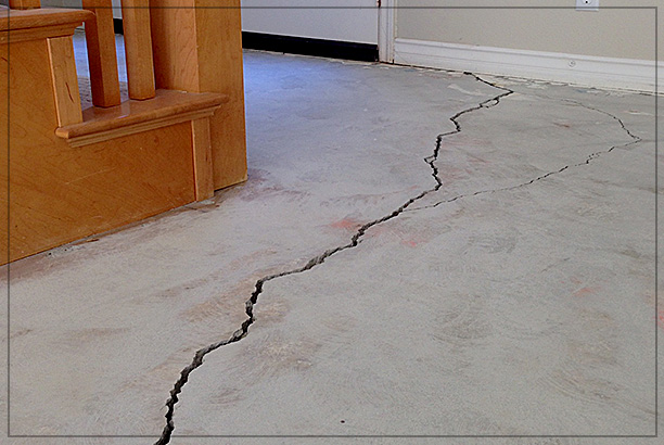 Crack in slab floor