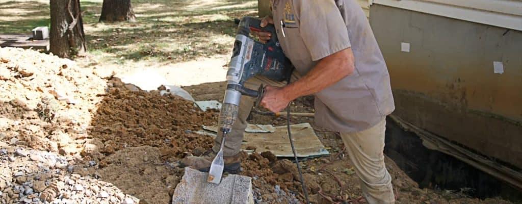 Person drilling