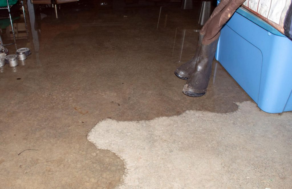 flooding basement in house