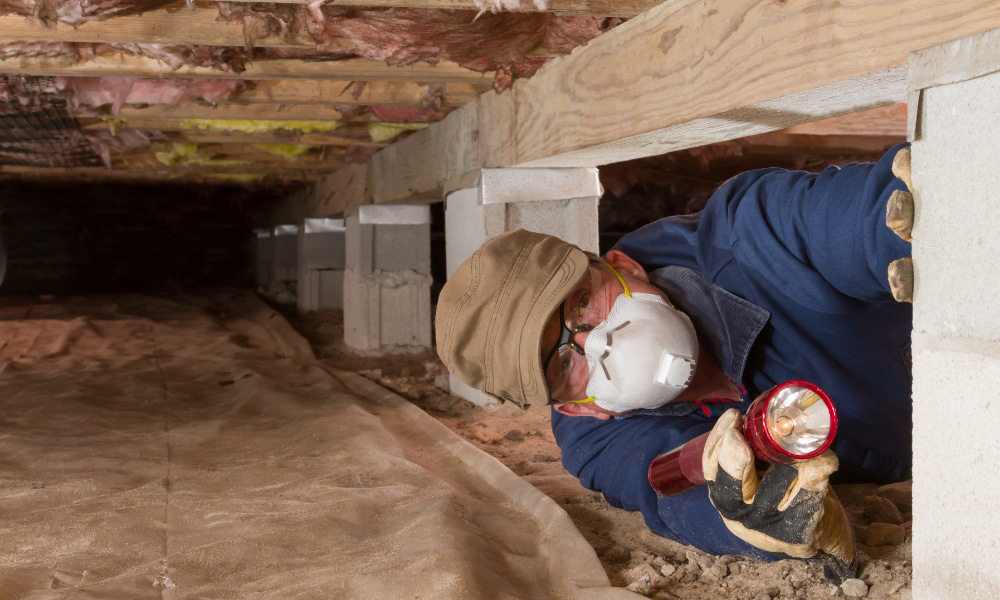 checking for water in your crawl space