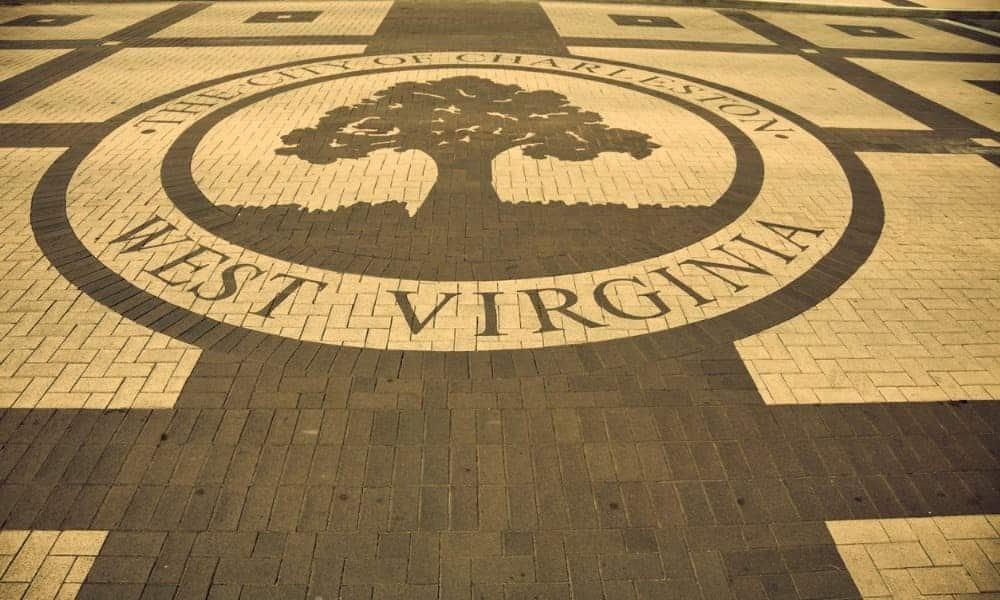 a floor tile mosaic of charlestown west virginia